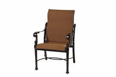 The Floria Collection Commercial Padded Sling Standard Back Stationary Dining Chair