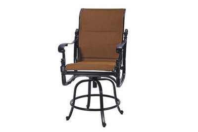 The Floria Collection Commercial Padded Sling Swivel Counter Height Chair