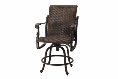 The Floria Collection Commercial Wicker Swivel Counter Height Chair