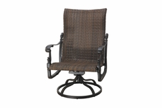 The Floria Collection Commercial Wicker Swivel Rocker Club Chair