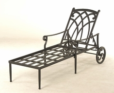 The Fontera Collection Commercial Cast Aluminum Chaise Lounge