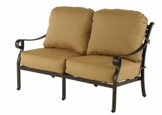 The Fontera Collection Commercial Cast Aluminum Loveseat
