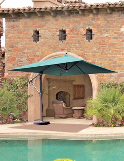 The Galtech Collection 10' x 10' Square Cantilever Offset Patio Umbrella