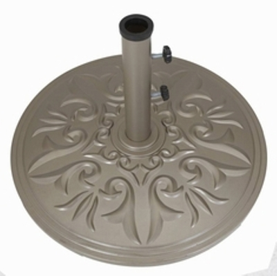 "The Galtech Collection 20"" Cast Aluminum Premium Round Umbrella Stand"