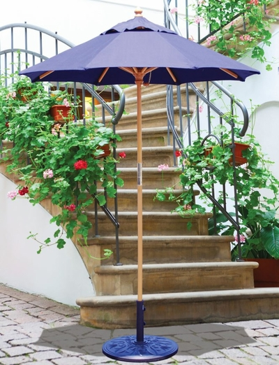 The Galtech Collection 6' Cafe and Bistro Wood Market Patio Umbrella
