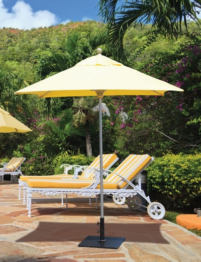 The Galtech Collection 6' x 6' Square Aluminum Market Patio Umbrella