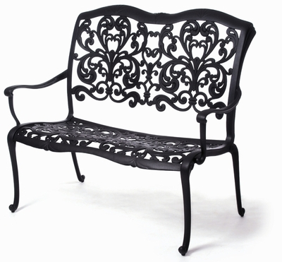 The Gradin Collection Commercial Cast Aluminum Bench
