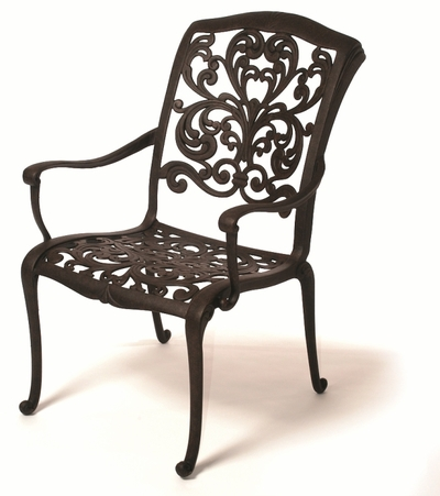 The Gradin Collection Commercial Cast Aluminum Stationary Dining Chair