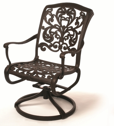 The Gradin Collection Commercial Cast Aluminum Swivel Dining Chair