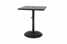 "The Grandville Collection Commercial Cast Aluminum 30"" Square Pedestal Bar Height Table"
