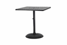 "The Grandville Collection Commercial Cast Aluminum 36"" Square Pedestal Dining Table"