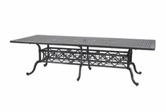 "The Grandville Collection Commercial Cast Aluminum 48"" x 112"" Rectangle Dining Table"