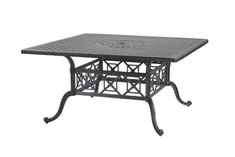 "The Grandville Collection Commercial Cast Aluminum 60"" Square Dining Table"