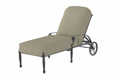 The Grandville Collection Commercial Cast Aluminum Single Chaise Lounge