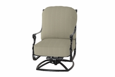 The Grandville Collection Commercial Cast Aluminum High Back Swivel Club Chair