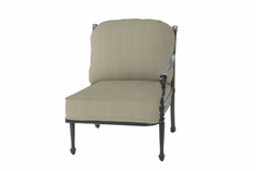 The Grandville Collection Commercial Cast Aluminum Left Arm Stationary Club Chair