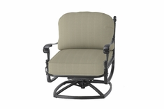 The Grandville Collection Commercial Cast Aluminum Standard Back Swivel Club Chair