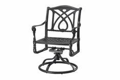 The Grandville Collection Commercial Cast Aluminum Swivel Dining Chair