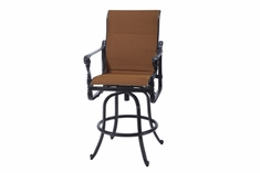 The Grandville Collection Commercial Padded Sling Swivel Bar Height Chair