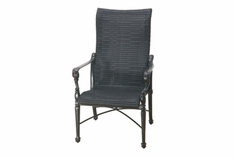 The Grandville Collection Commercial Wicker High Back Stationary Dining Chair