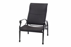 The Grandville Collection Commercial Wicker Stationary Reclining Chair