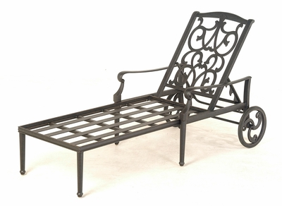 The Grayson Collection Commercial Cast Aluminum Chaise Lounge