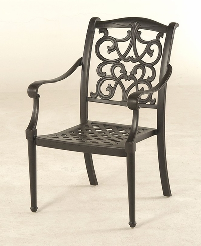 The Grayson Collection Commercial Cast Aluminum Stationary Dining Chair