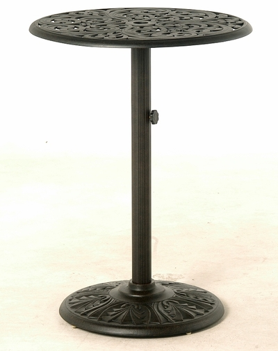"""The Harbor Collection Commercial Cast Aluminum 30"""" Pedestal Bar Height Table"""