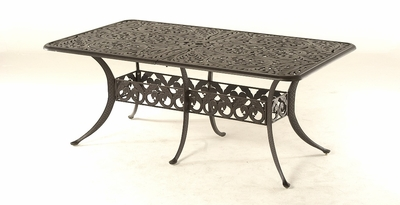 """The Harbor Collection Commercial Cast Aluminum 42"""" x 76"""" Rectangle Expansion Dining Table"""