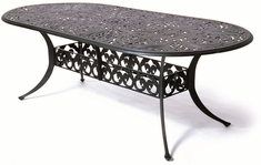 "The Harbor Collection Commercial Cast Aluminum 42"" x 84"" Oval Dining Table"