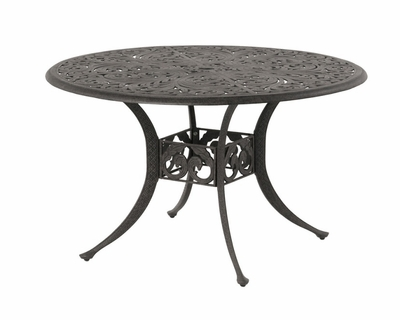 "The Harbor Collection Commercial Cast Aluminum 48"" Round Dining Table"