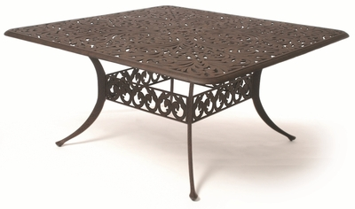 "The Harbor Collection Commercial Cast Aluminum 60"" Square Dining Table"