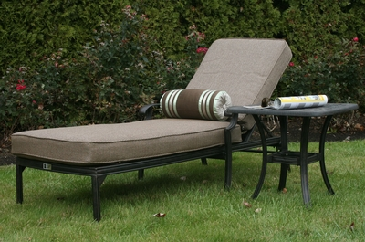 ©The Herve Collection All Welded Cast Aluminum Chaise Lounge