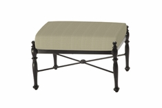 The Holbrook Collection Commercial Cast Aluminum Ottoman