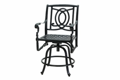 The Holbrook Collection Commercial Cast Aluminum Swivel Counter Height Chair