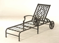 The Hollister Collection Commercial Cast Aluminum Chaise Lounge