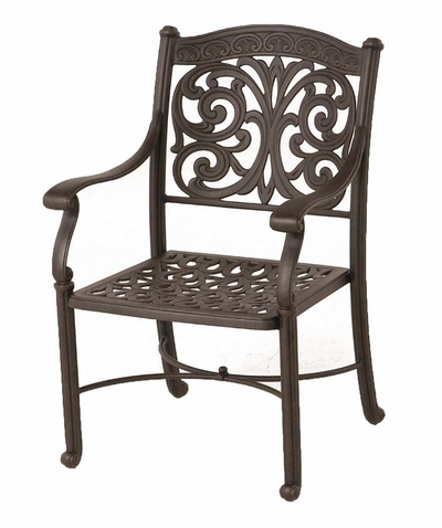 The Byanca Collection Commercial Cast Aluminum Stationary Dining Chair