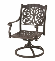 The Byanca Collection Commercial Cast Aluminum Swivel Dining Chair