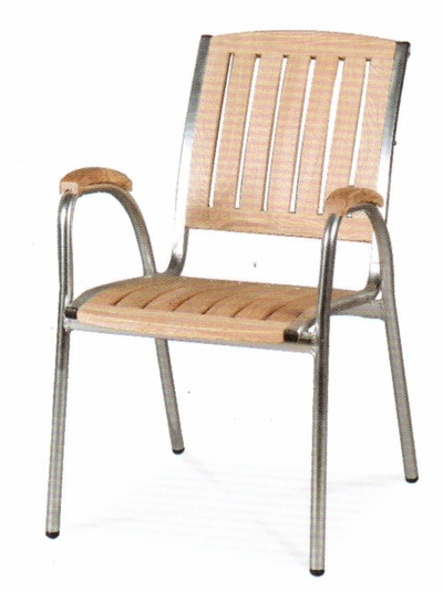 The Jensen Collection Commercial Teak Dining Chair