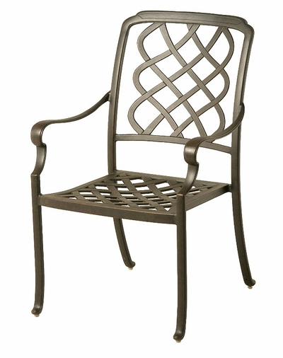 The Kayla Collection Commercial Cast Aluminum Stationary Dining Chair