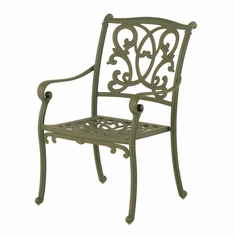 The Lavali Collection Commercial Cast Aluminum Stationary Dining Chair