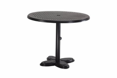 "The Lakelyn Collection Commercial Cast Aluminum 30"" Round Pedestal Counter Height Table"