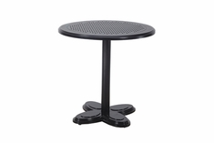 "The Lakelyn Collection Commercial Cast Aluminum 30"" Round Pedestal Dining Table W/No Umbrella Hole"