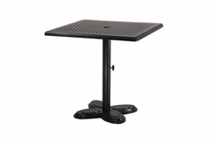 "The Lakelyn Collection Commercial Cast Aluminum 30"" Square Pedestal Bar Height Table"