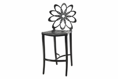 The Lakelyn Collection Commercial Cast Aluminum Stationary Counter Height Chair