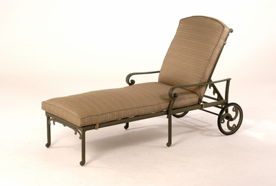 The Lavali Collection Commercial Cast Aluminum Chaise Lounge