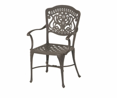 The Lina Collection Commercial Cast Aluminum Stationary Dining Chair