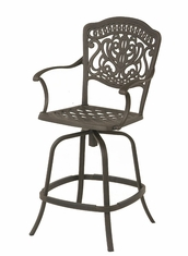 The Lina Collection Commercial Cast Aluminum Swivel Counter Height Chair