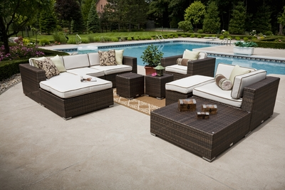 �The Lucia Collection All Weather Wicker Patio Furniture Deep Seating Sectional