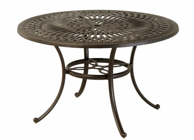 "The Macyn Collection Commercial 54"" Round Counter Height Table With Inlaid Lazy Susan"